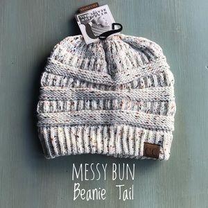 Messy Bun Beanie Tail